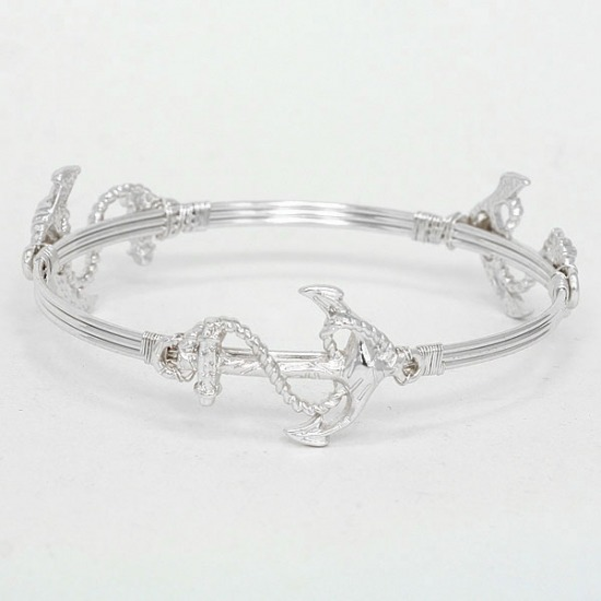 Flexi-Wire Anchor Bangle Bracelet