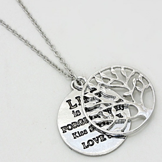 Tree of Life Medallion Pendant Necklace